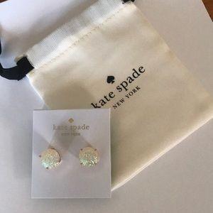 Brand new!!! Kate Spade sparkly gumdrop earrings!